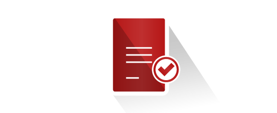 Verification of documents icon